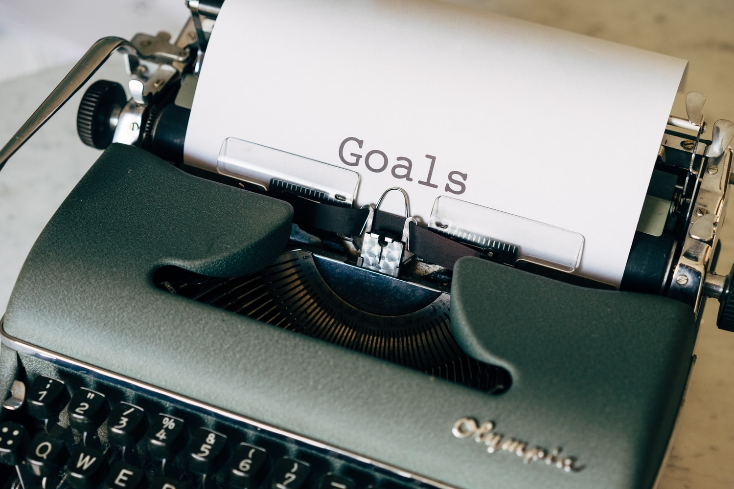 Goals on typewriter