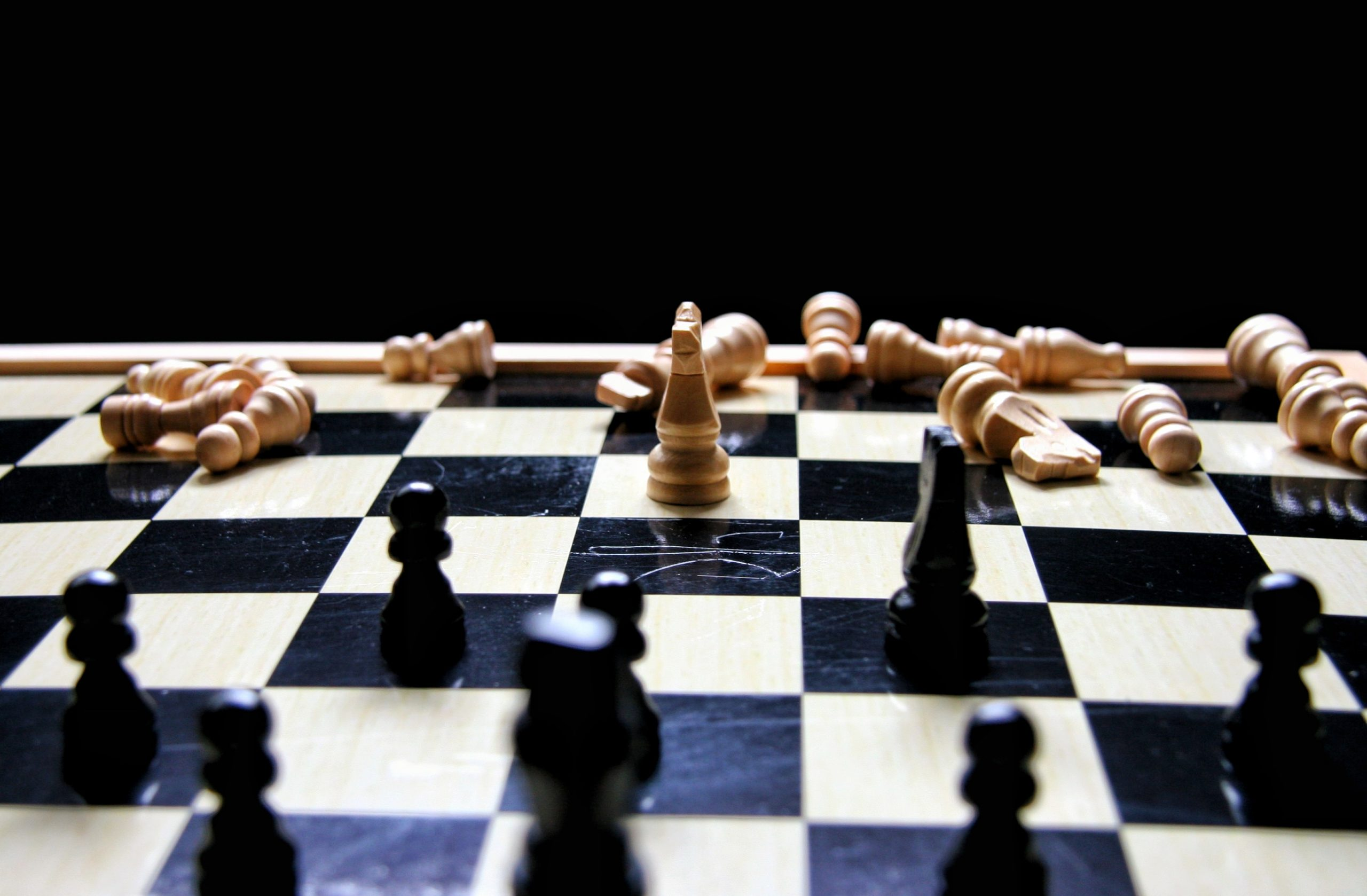 Decimated chess army